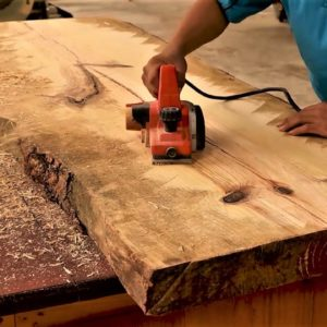 Amazing Woodworking Design Ideas With Monolithic Wood Anyone Can Do // Building a Large Dining Table