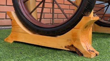 Old Wheel And Wood // The Great Creativity Of The Young Craftsman
