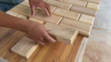 The Best Way To Use Old Wood // The Perfect Wood Recycling Project